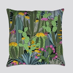 Simple Graphic Cactus Garden Everyday Pillow