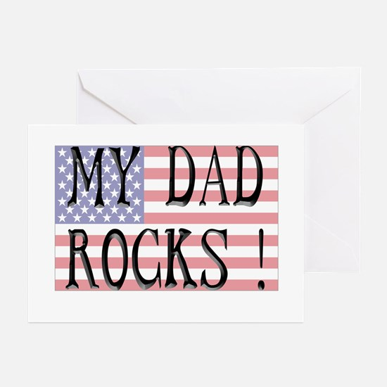 My Dad Rocks ! Greeting Cards (Pk of 10)