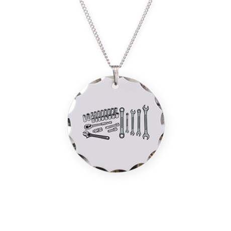 Wrenches Necklace Circle Charm