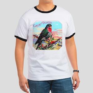 Parrot Bird Cigar Label Ringer T