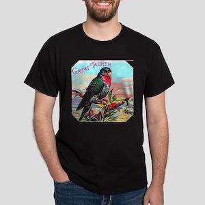 Parrot Bird Cigar Label Dark T-Shirt