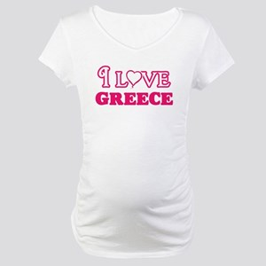 I love Greece Maternity T-Shirt