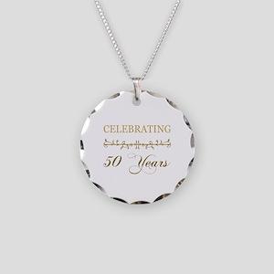 Celebrating 50 Years Necklace Circle Charm