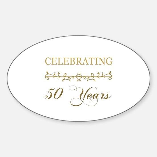 Celebrating 50 Years Sticker (Oval)