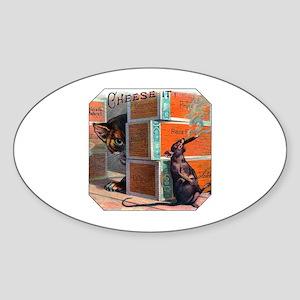 Cheese It Rat Cigar Label Sticker (Oval)