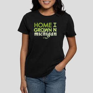'Home Grown In Michigan' Women's Dark T-Shirt