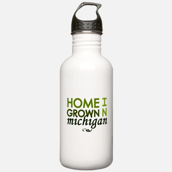 'Home Grown In Michigan' Water Bottle