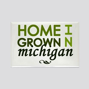 'Home Grown In Michigan' Rectangle Magnet