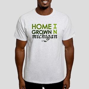'Home Grown In Michigan' Light T-Shirt
