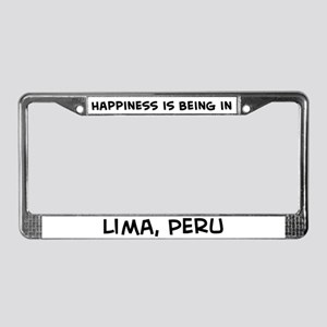 Happiness is Lima License Plate Frame