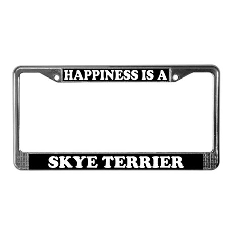 Happiness Is A Skye License Plate Frame