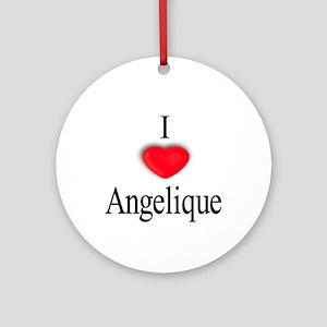 Angelique Ornament (Round)