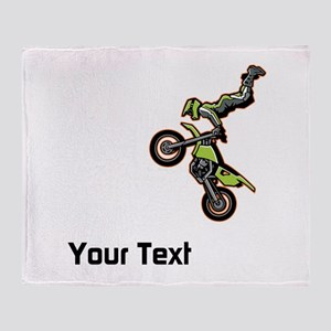 Motorbike Jump Throw Blanket