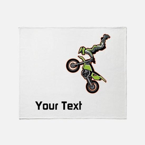Motorbike Jump Throw Blanket