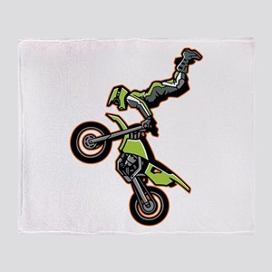 Freestyle Motocross Throw Blanket
