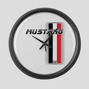 Mustang BWR Large Wall Clock