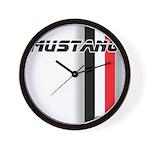Mustang BWR Wall Clock