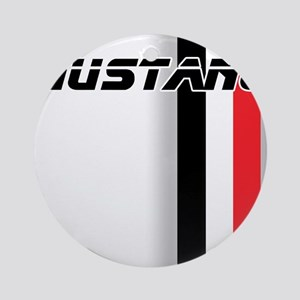Mustang BWR Ornament (Round)