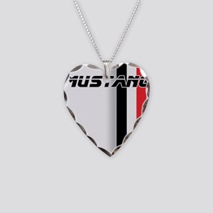 Mustang BWR Necklace Heart Charm