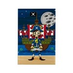 Cute Pirate Captain and Ship Magnet