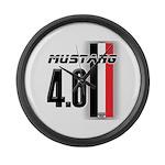 Mustang 4.6 Large Wall Clock