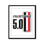 Mustang 5.0 BWR Framed Panel Print