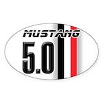 Mustang 5.0 BWR Sticker (Oval 50 pk)