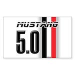 Mustang 5.0 BWR Sticker (Rectangle)