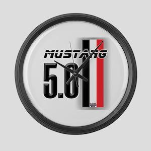 Mustang 5.0 BWR Large Wall Clock