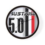 Mustang 5.0 BWR Wall Clock
