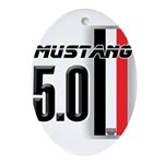 Mustang 5.0 BWR Ornament (Oval)