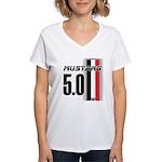 Mustang 5.0 BWR Women's V-Neck T-Shirt