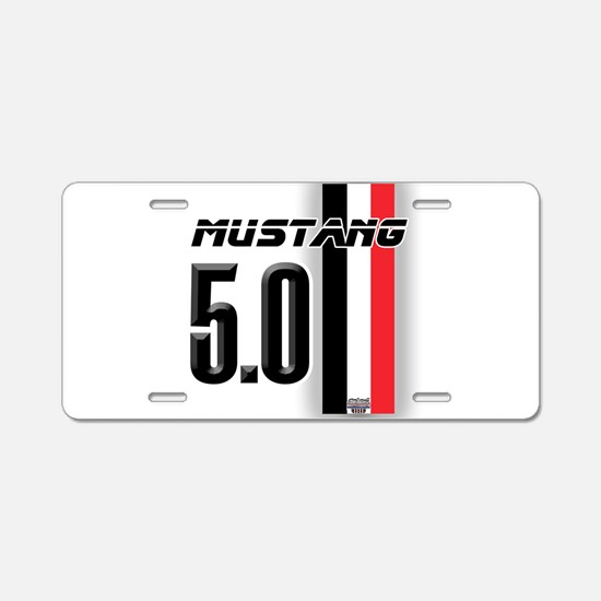 Mustang 5.0 BWR Aluminum License Plate