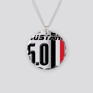 Mustang 5.0 BWR Necklace Circle Charm