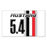 Mustang 5.4 BWR Sticker (Rectangle)