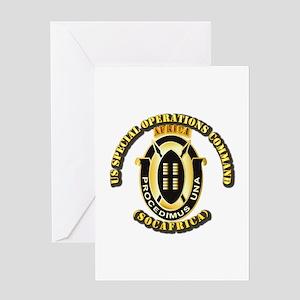 SOF - USSOC - SOCAFRICA - DUI Greeting Card