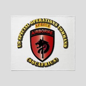 SOF - USSOC - SOCAFRICA - SSI Throw Blanket