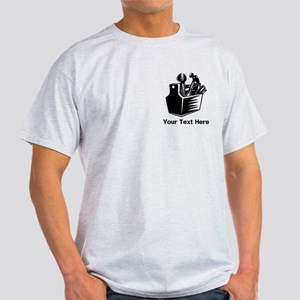 Tools with Text in Black. Light T-Shirt