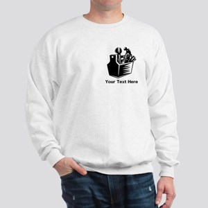 Tools with Text in Black. Sweatshirt