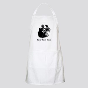 Tools with Text in Black. Apron