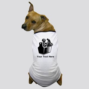 Tools with Text in Black. Dog T-Shirt