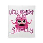 Little Monster Shelly Throw Blanket