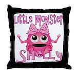 Little Monster Shelly Throw Pillow