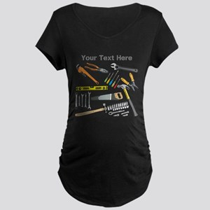 Tools with Gray Text. Maternity Dark T-Shirt