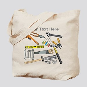 Tools with Gray Text. Tote Bag