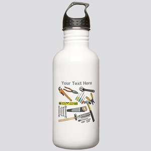 Tools with Gray Text. Stainless Water Bottle 1.0L