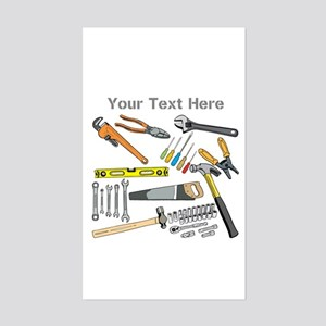 Tools with Gray Text. Sticker (Rectangle)