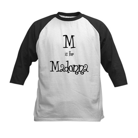 M Is For Madonna Kids Baseball Jersey