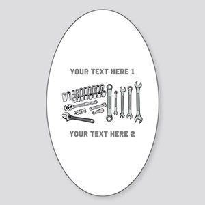 Wrenches with Text. Sticker (Oval)