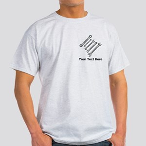 Wrenches. Black Text. Light T-Shirt